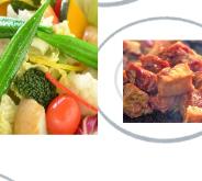 サラダ vs 肉料理