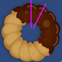 ランドルト環が足りないのでドーナツで代用する